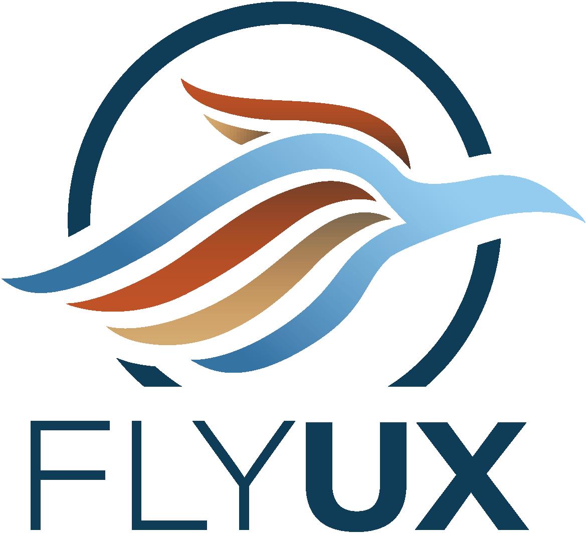 Fly UX branding, logo, colour coding